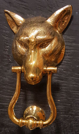 Solid Brass Fox Wolf Door Knocker