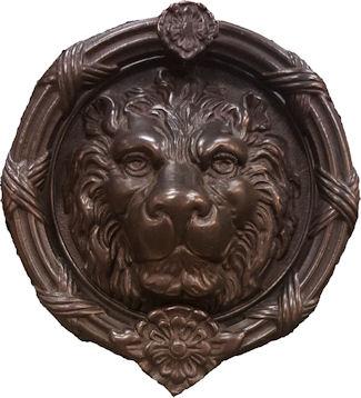 Solid bronze large lion head door knocker - Large lion head door knocker ...